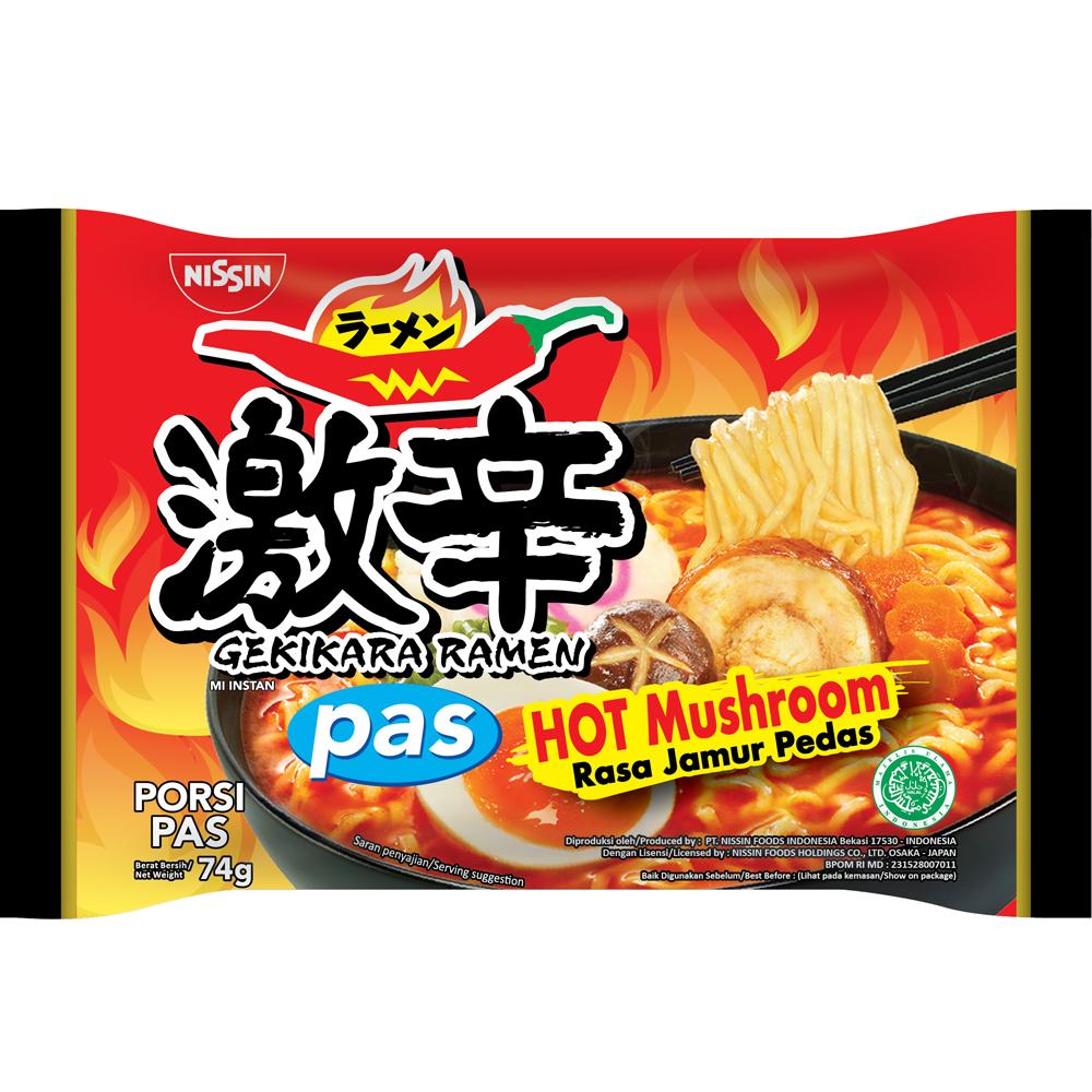 Gekikara Ramen PAS Rasa Hot Mushroom