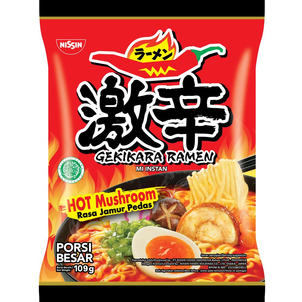 Gekikara Ramen Rasa Hot Mushroom